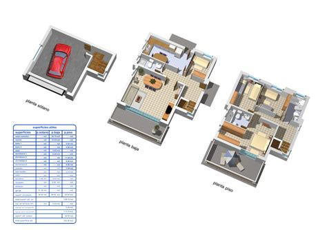 Plano de casa unifamiliar
