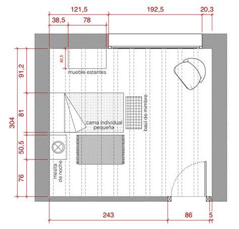 Plano de planta de distribución acotado del proyecto de ...