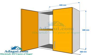 Plano y Diseño con medidas mueble alto de cocina melamina ...