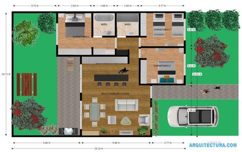 Planos de casa de un piso y tres dormitorios, ideas para ...