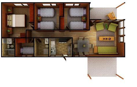 Planos de casas de 4 dormitorios en una planta