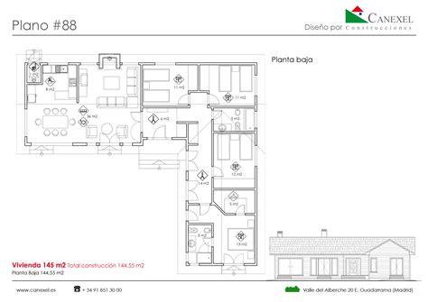 Planos de casas de una planta   Canexel