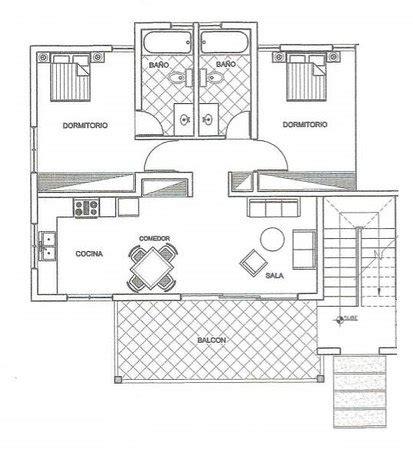 Planta apartamento 2 habitaciones: fotografía de Hotel ...