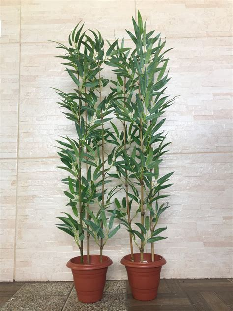 Planta Arfificial Bambu Reto Kit 2 Plantas 100cm Decoracao ...