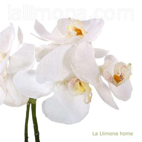 Planta artificial con flores de orquideas blancas. http ...