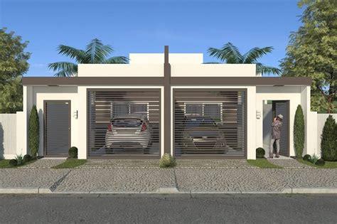 Planta de casa geminada - Projetos de Casas, Modelos de ...