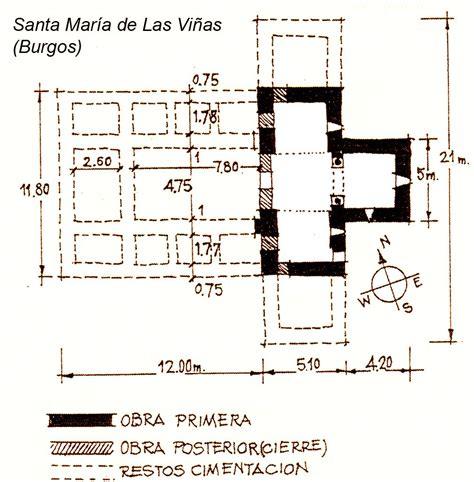 Planta de Santa María de Quintanilla de las Viñas. Iglesia ...