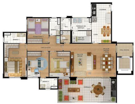 Plantas de casas com 4 quartos grátis | Decorando Casas