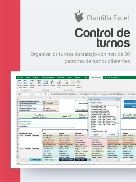 Plantilla Control de Turnos de Trabajo | Cuadrante turnos ...
