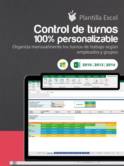 Plantilla Control de Turnos Personalizable | Cuadrante en ...