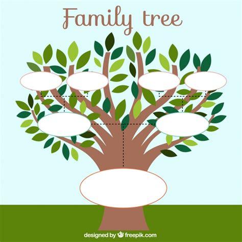 Plantilla de árbol genealógico con hojas | Descargar ...