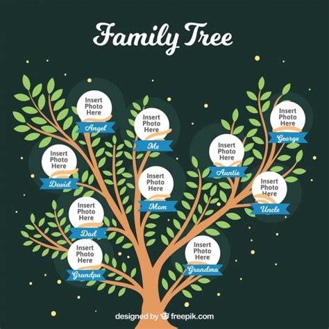 Plantilla de bonito árbol genealógico | Descargar Vectores ...