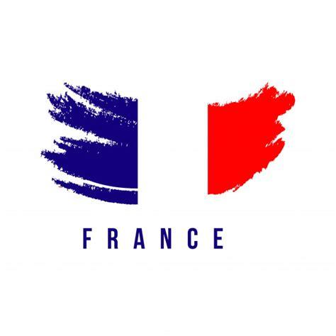 Plantilla de logotipo de cepillo de bandera de francia ...