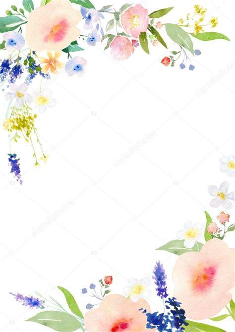 Plantilla de tarjeta de flores acuarela — Foto de stock ...
