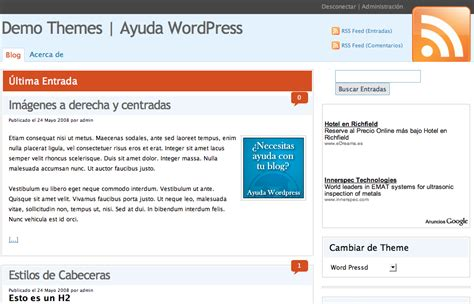 Plantilla en Español WordPressD • Ayuda WordPress
