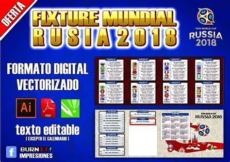 Plantilla Fixture Mundial Rusia 2018 Calendario ...