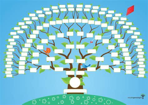 Plantilla para hacer un árbol genealógico - Imagui