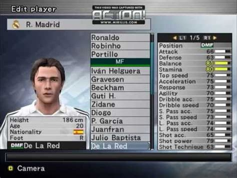 Plantilla Real Madrid 2004/2005 Winning Eleven   YouTube