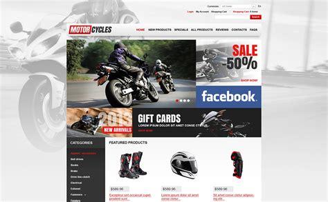 Plantilla ZenCart #46083 para Sitio de para Tiendas de motos