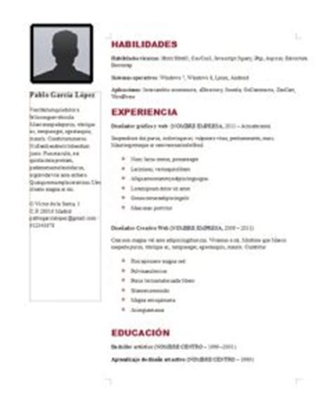 Curriculum Vitae Espanol Plantilla Word Para Rellenar Erva