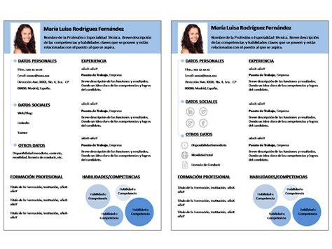 Plantillas Curriculum Vitae Infocircle (Plantillas ...