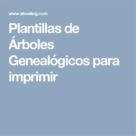 Plantillas de Árboles Genealógicos para imprimir ...