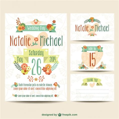 Plantillas de invitaciones de boda imprimibles | Descargar ...