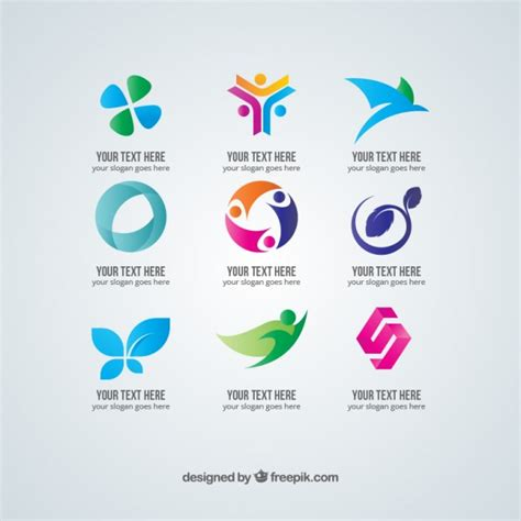 Plantillas de logotipos abstractos gratis | Descargar ...