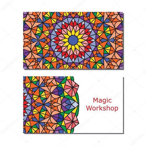 Plantillas de tarjeta de visita con mandala de ornamento ...