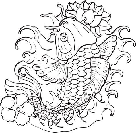 Plantillas Para Tatuajes Del Pez Koi - Cuerpo Y Arte - AZ ...
