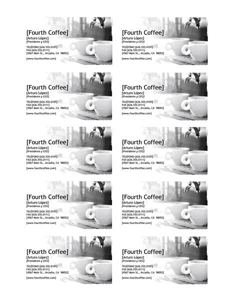 Plantillas tarjetas de presentación word   Imagui