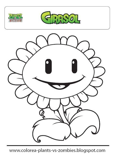 Plants vs Zombies: Giralsol  para colorear  Dibujo de ...