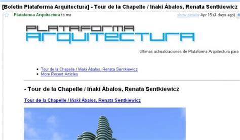 Plataforma Arquitectura directo a tu e-mail | ArchDaily México