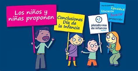 Plataforma de Infancia Los niños y niñas proponen sobre ...