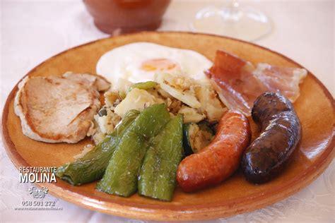 Plato alpujarreño - Restaurante Molina en Huétor Vega