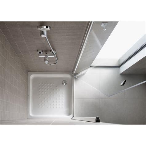 Plato de ducha cuadrado de porcelana ITALIA - ROCA