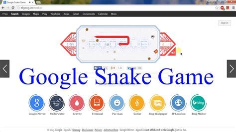 Play Snake Game in Google | Google Snake - YouTube