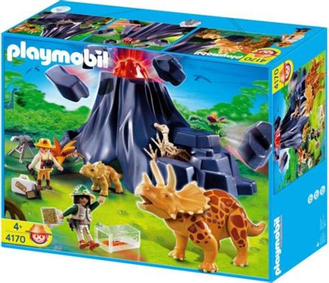 Playmobil 4170 Triceratops With Volcano Island - £34.99 ...