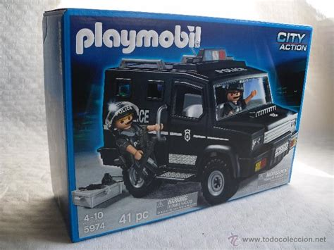 playmobil 5974 vehiculo furgon todoterreno poli   Comprar ...