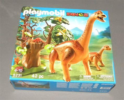 Playmobil Dinos 5231 Brachiosaurus with Baby Dino Dinosaur ...