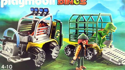 Playmobil Dinos Transport Vehicle with Baby T Rex Dinosaur ...