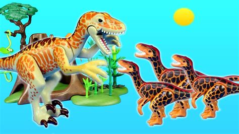 Playmobil Dinosaurs Deinonychus and Velociraptors Toys For ...