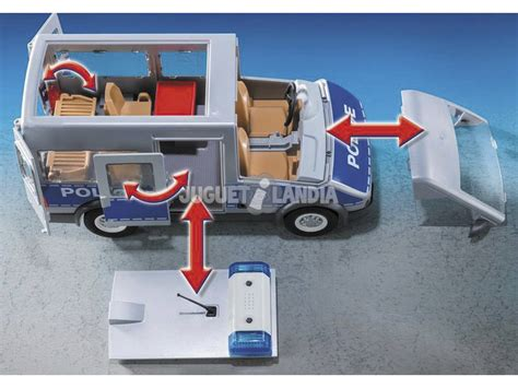 Playmobil Furgón Policía Con Control De Tráfico 9236 ...
