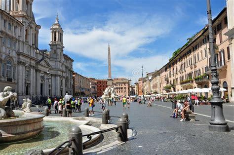 Plaza Navona Roma Italia imagen de archivo editorial ...