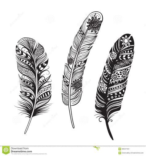Plumas De Pájaros Ilustración Del Vector Ilustración del ...