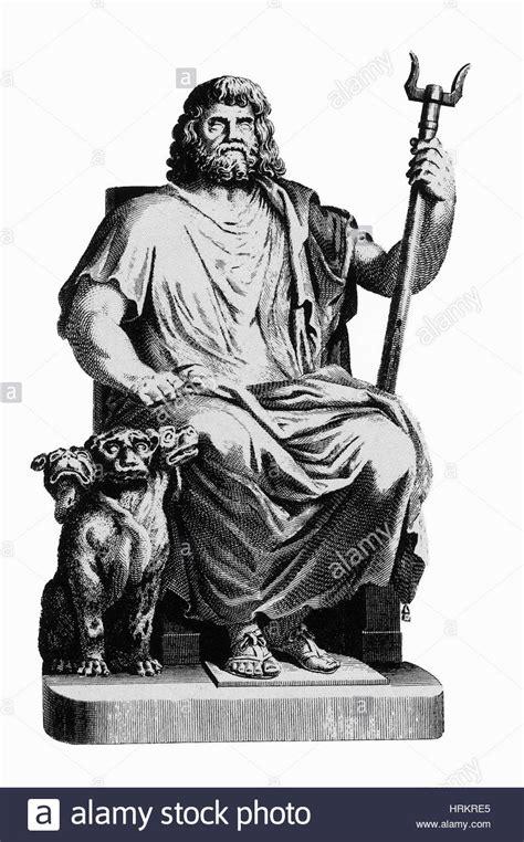 Pluto, Roman God of the Underworld with Cerberus Stock ...