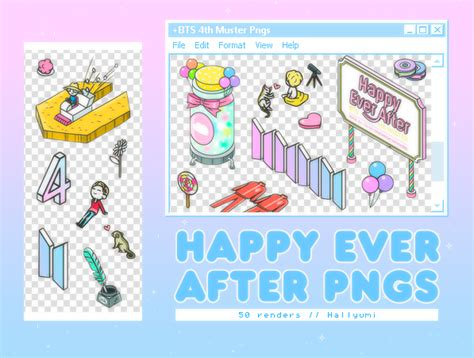 PNG PACK: Happy Ever After  BTS 4th Muster  by Hallyumi on ...