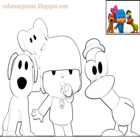 Pocoyo Paginas Para Colorear Coloring Page ...