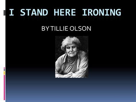 i stand here ironing summary