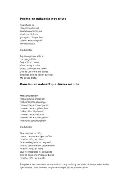 Poema en náhuatl